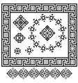 a set of black and white geometric designs signs vector image vector image