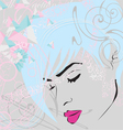 abstract background with girls face vector image vector image