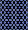 Abstract seamless pattern with stylized stars vector image vector image