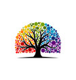 abstract vibrant tree logo design root vector image vector image
