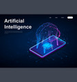 artificial intelligence or ai concept vector image