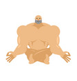 athlete yoga yogi bodybuilder sportsman zen and vector image