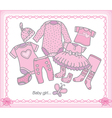 Baby girl clothes vector image