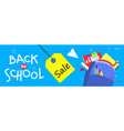 back to school banner flat design background vector image