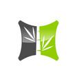 bamboo logo vector image vector image