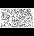 berlin germany map in black and white color vector image vector image