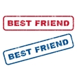 Best Friend Rubber Stamps vector image vector image
