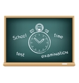 board school stopwatch vector image vector image