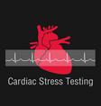 cardiac stress testing logo icon design vector image vector image