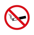cigarette no warning forbidden vector image vector image