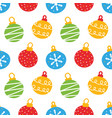 colorful christmas balls seamless pattern vector image vector image