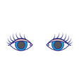 colorful vision eyes with eyelashes style design vector image vector image
