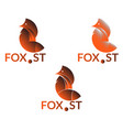 company logo with fox vector image