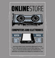 computer hardware and electronic devices vector image