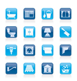 Construction and building equipment Icons vector image vector image