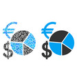 currency pie chart composition of dollars vector image vector image