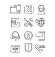 customer service icons support help at phone line vector image vector image