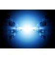 Dark blue shiny hi-tech motion design vector image vector image