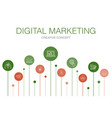 digital marketing infographic 10 steps template vector image vector image