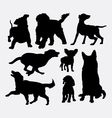 Dog action silhouettes vector image vector image