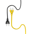 electric cable plugs vector image