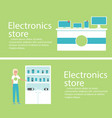 electronics store banners with digital gadgets vector image