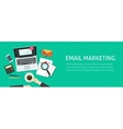 Email marketing banner email analyzing or vector image vector image