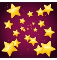 Falling Golden Star Background Wallpaper or Card vector image