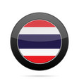 flag of thailand shiny black round button vector image vector image