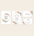 floral wedding invitation save date rsvp vector image vector image