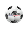 football soccer ball planet space background vector image vector image