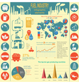 Fuel industry infographic set elements for vector image