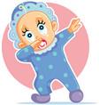 funny baby boy dabbing cartoon vector image vector image