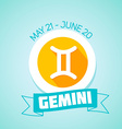 Gemini zodiac sign vector image