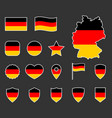germany flag symbols set german national flag vector image