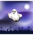 ghost on cemetery vector image vector image