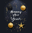 glossy new year background with a 3d realistic vector image vector image