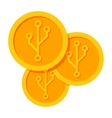 Golden Cryptocurrency Icon vector image vector image