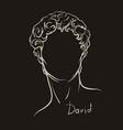 hand drawing david s head vector image vector image