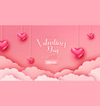 happy valentines day greeting background in vector image vector image