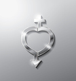 heart sex vector image