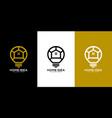 home idea logo design vector image