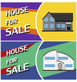 House sale banner Cottage in flat style