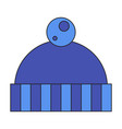 icon in flat design hat vector image vector image