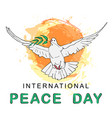 international peace day concept vector image vector image