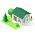 Isometric home vector image vector image