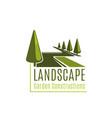 landscape garden construction sign vector image