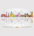 lisbon city background vector image vector image