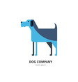 Logo with a dog vector image vector image