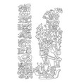 mayan figure counting time vector image